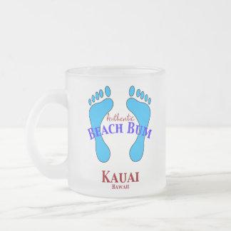 Vago auténtico Kauai Hawaii de la playa Taza De Café Esmerilada