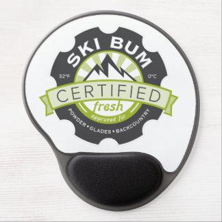 Vago certificado del esquí alfombrilla con gel