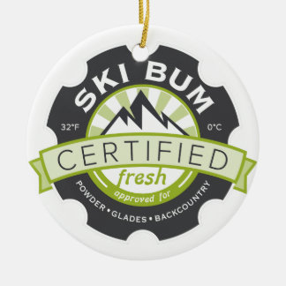 Vago certificado del esquí