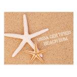 Vago certificado USDA de la playa Postales