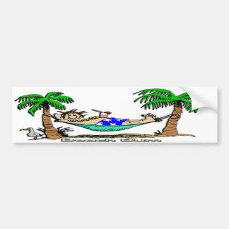 Vago de la playa etiqueta de parachoque