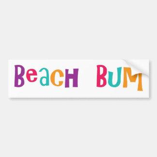 Vago de la playa pegatina para auto