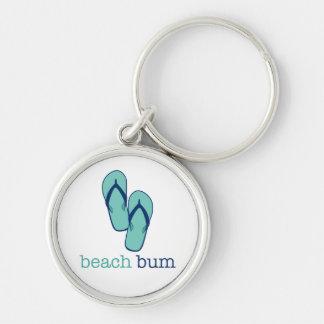Vago de la playa de los flips-flopes llavero personalizado