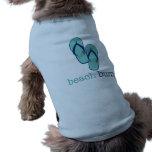 Vago de la playa de los flips-flopes camisetas de perrito