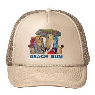 Vago de la playa del golden retriever gorros bordados