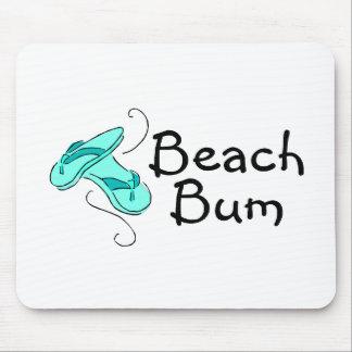 Vago de la playa (flips-flopes) mouse pads