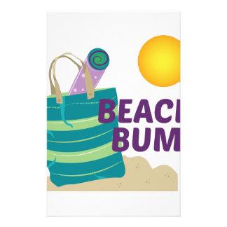Vago de la playa papeleria personalizada