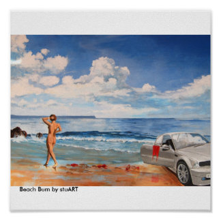 Vago de la playa póster