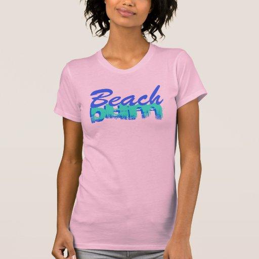 Vago de la playa t-shirts