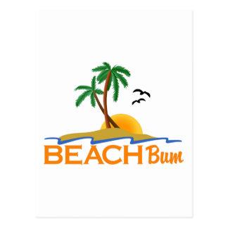 Vago de la playa tarjeta postal