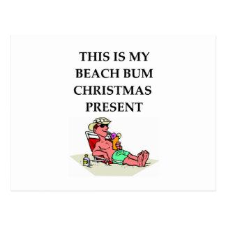vago de la playa postales