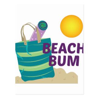 Vago de la playa tarjetas postales