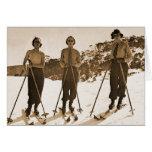 Vagos de esquí 1942 del esquí ' de las mujeres ret tarjeton