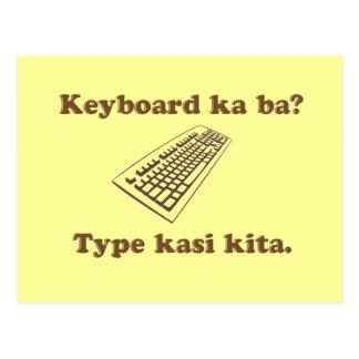 ¿Vagos de ka del teclado Mecanografíe Kita Tarjeta Postal