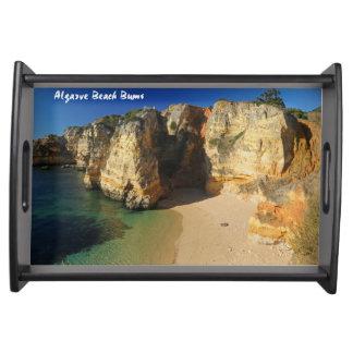 Vagos de la playa de Algarve Bandejas