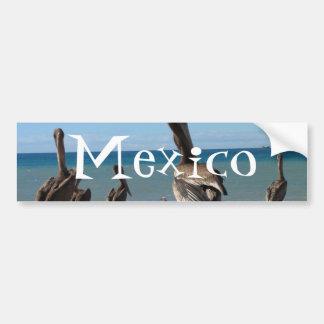 Vagos de la playa del pelícano; Recuerdo de México Pegatina Para Auto
