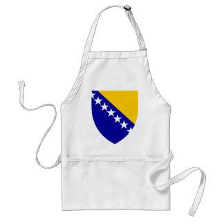 VAGOS del escudo de armas de Bosnia y Herzegovina Delantal