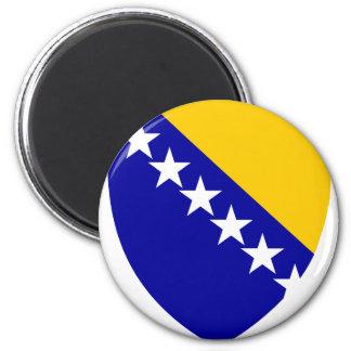 VAGOS del escudo de armas de Bosnia y Herzegovina Imán Redondo 5 Cm