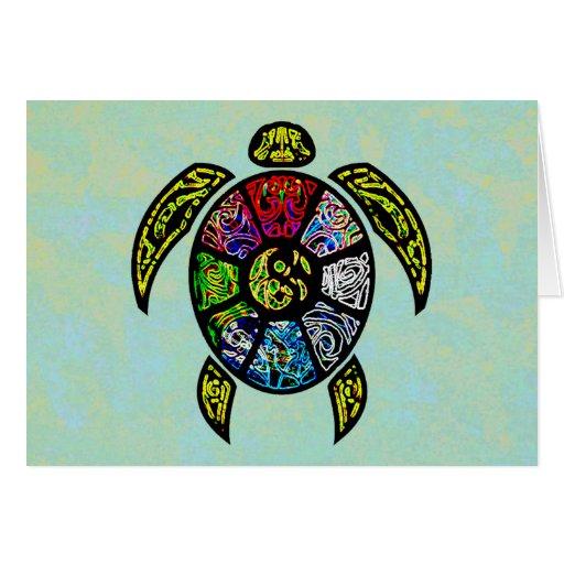 Vagos-Gua de la tortuga Tarjeta De Felicitación