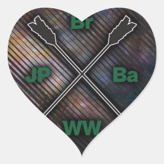 Vagos JP WW del Br Pegatina En Forma De Corazón
