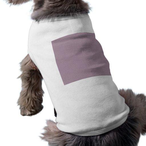 VAGOS PÚRPURAS DE COLOR DE MALVA LIGEROS del COLOR Camiseta De Perrito