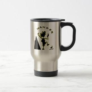 Vague en negro taza térmica