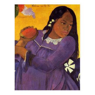 """""""Vahine ninguna postal de Te VI"""" - Paul Gauguin"""