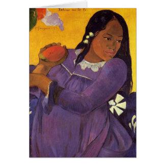 """Vahine ninguna tarjeta de Te VI"" - Paul Gauguin"