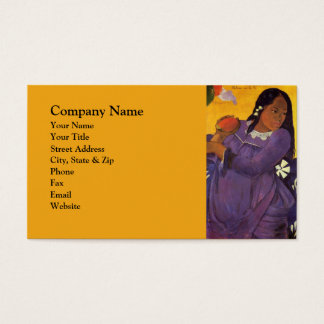Vahine No Te Vi - Paul Gauguin Print Business Card