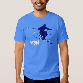 Vail Blue Snow Ski T-Shirt
