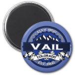 Vail City Logo Blue Fridge Magnets