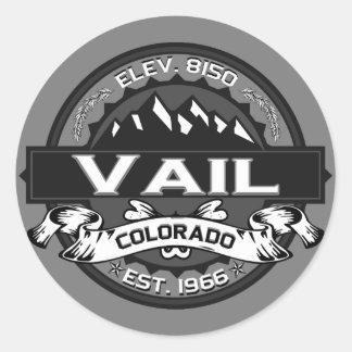 Vail City Logo Gray Classic Round Sticker
