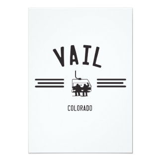 Vail Colorado 5x7 Paper Invitation Card