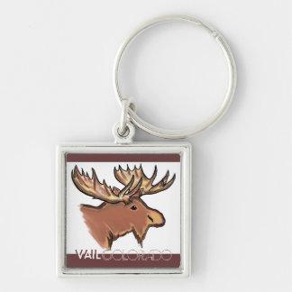 Vail Colorado brown moose natural keychain