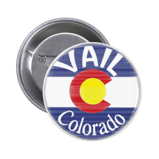 Vail Colorado circle flag Pin