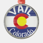 Vail Colorado circle flag Christmas Ornament