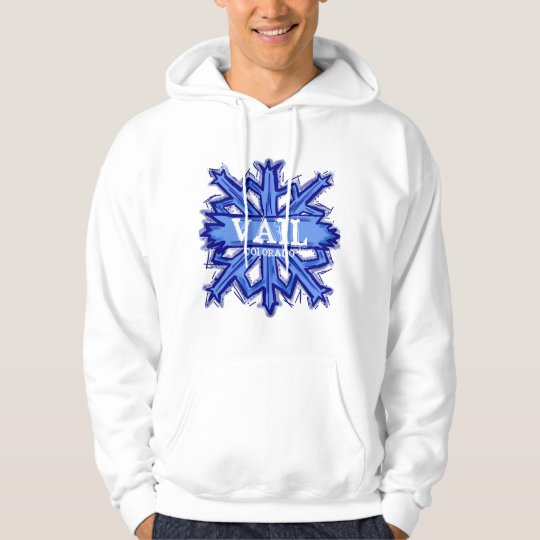 Vail Colorado guys winter snowflake hoodie