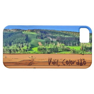Vail Colorado mountain bright rustic iphone 5 case