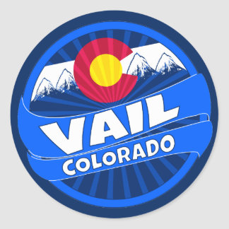 Vail Colorado mountain burst sticker