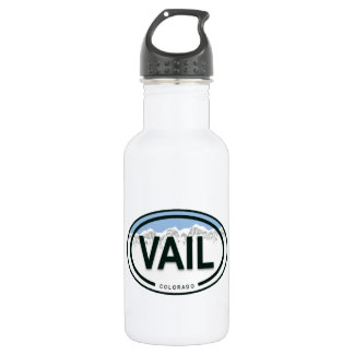 Vail Colorado Mountain Tag Water Bottle