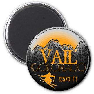 Vail Colorado orange ski mountain magnet
