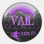 Vail Colorado purple ski mountain stickers