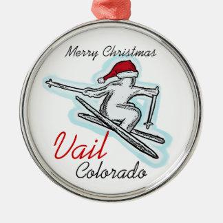 Vail Colorado santa skier hat ornament