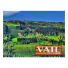 Vail Colorado scenic rustic sign ski lift poster