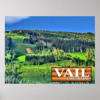 Vail Colorado scenic rustic sign ski lift poster