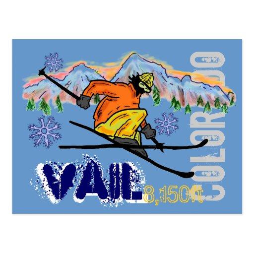 Colorado Elevation: Vail Colorado Ski Elevation Postcard