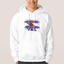 Vail Colorado state flag snowboarder hoodie