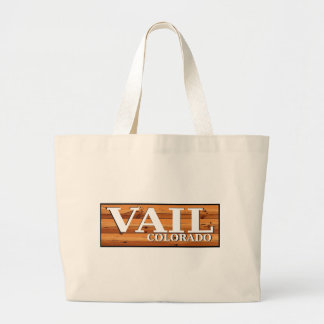 Vail Colorado wooden log sign Tote Bags