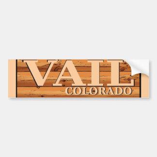 Vail Colorado wooden log sign Bumper Sticker