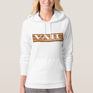 Vail Colorado wooden log sign Hoodie